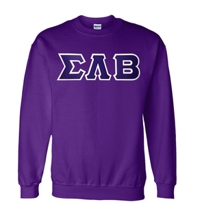 DISCOUNT Sigma Lambda Beta Lettered Crewneck