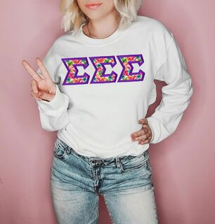 $25 Sigma Sigma Sigma Custom Twill Sweatshirt