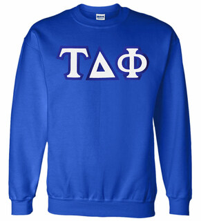 Tau Delta Phi Custom Twill Crewneck Sweatshirt