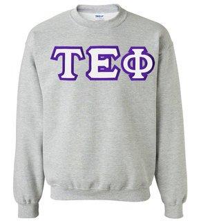 $25 Tau Epsilon Phi Custom Twill Crewneck Sweatshirt