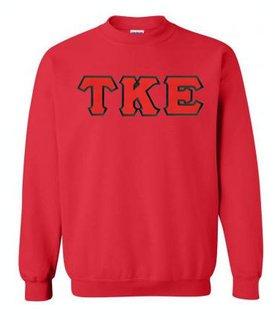 DISCOUNT Tau Kappa Epsilon Lettered Crewneck