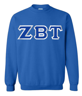 $25 Zeta Beta Tau Custom Twill Crewneck Sweatshirt