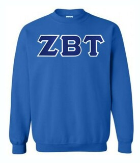 DISCOUNT Zeta Beta Tau Lettered Crewneck