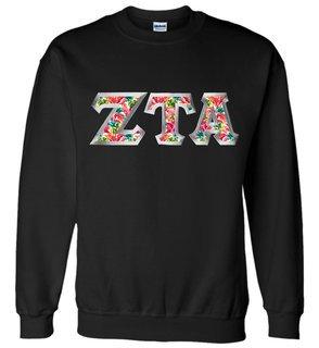 $25 Zeta Tau Alpha Custom Twill Sweatshirt
