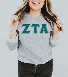DISCOUNT Zeta Tau Alpha Lettered Crewneck