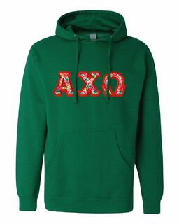 $30 Alpha Chi Omega Custom Twill Hooded Sweatshirt
