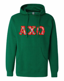 Alpha Chi Omega Custom Twill Hooded Sweatshirt