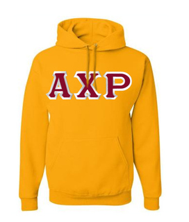 Alpha Chi Rho Custom Twill Hooded Sweatshirt