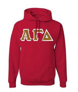 $39.99 Alpha Gamma Delta Custom Twill Hooded Sweatshirt