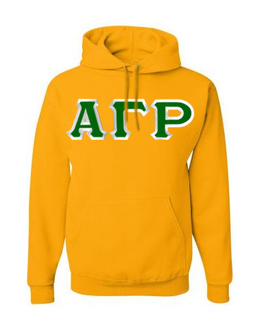Alpha Gamma Rho Custom Twill Hooded Sweatshirt