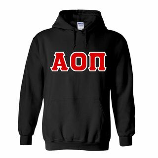 DISCOUNT Alpha Omicron Pi Lettered Hoodie