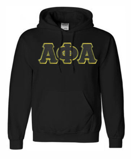 DISCOUNT Alpha Phi Alpha Lettered Hooded Sweatshirt