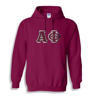 Alpha Phi Custom Twill Hooded Sweatshirt