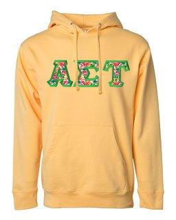 Alpha Sigma Tau Custom Twill Hooded Sweatshirt