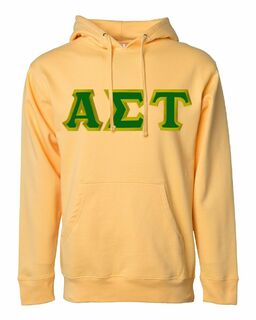 DISCOUNT Alpha Sigma Tau Lettered Hooded Sweatshirt