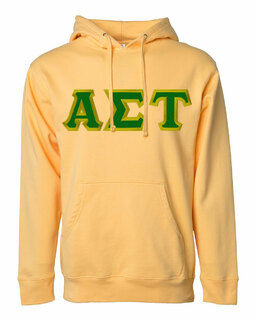 DISCOUNT Alpha Sigma Tau Lettered Hooded Sweatshirt