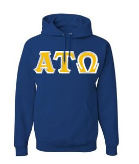 Alpha Tau Omega Custom Twill Hooded Sweatshirt