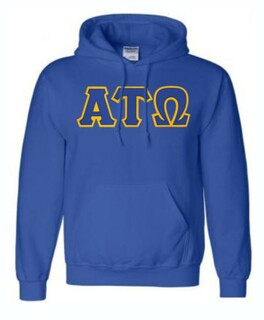 DISCOUNT Alpha Tau Omega Lettered Hooded Sweatshirt
