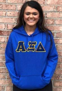 $39.99 Alpha Xi Delta Lettered Hooded Sweatshirt