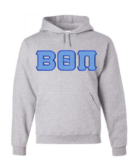 DISCOUNT Beta Theta Pi Lettered Hooded Sweatshirt