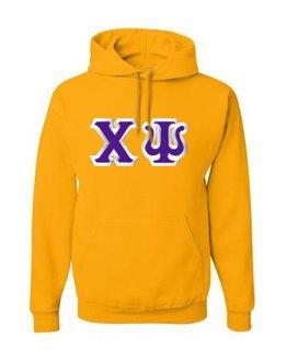 $39.99 Chi Psi Custom Twill Hooded Sweatshirt