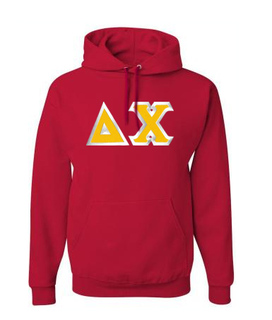 Delta Chi Custom Twill Hooded Sweatshirt