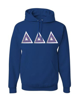 Delta Delta Delta Custom Twill Hooded Sweatshirt