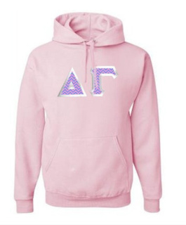 Delta Gamma Custom Twill Hooded Sweatshirt