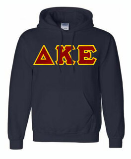 DISCOUNT Delta Kappa Epsilon Lettered Hooded Sweatshirt