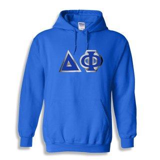 Delta Phi Custom Twill Hooded Sweatshirt