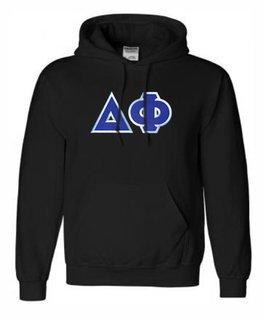 DISCOUNT Delta Phi Lettered Hooded Sweatshirt