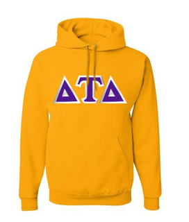 Delta Tau Delta Custom Twill Hooded Sweatshirt