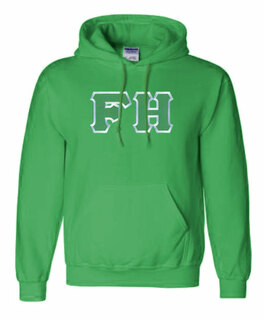 $39.99 FarmHouse Fraternity Lettered Hooded Sweatshirt
