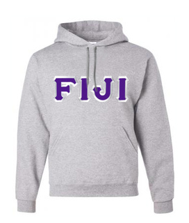 FIJI Fraternity Custom Twill Hooded Sweatshirt