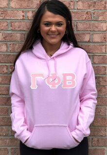 $39.99 Gamma Phi Beta Lettered Hooded Sweatshirt
