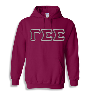 Gamma Sigma Sigma Custom Twill Hooded Sweatshirt