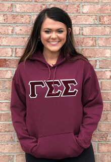 DISCOUNT Gamma Sigma Sigma Lettered Hooded Sweatshirt