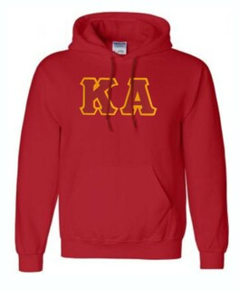 DISCOUNT Kappa Alpha Lettered Hooded Sweatshirt