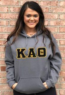 DISCOUNT Kappa Alpha Theta Lettered Hooded Sweatshirt