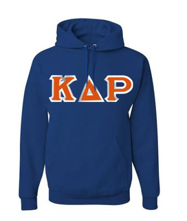 Kappa Delta Rho Custom Twill Hooded Sweatshirt