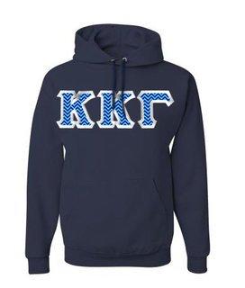 Kappa Kappa Gamma Custom Twill Hooded Sweatshirt