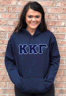 DISCOUNT Kappa Kappa Gamma Lettered Hooded Sweatshirt
