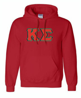 DISCOUNT Kappa Sigma Lettered Hooded Sweatshirt