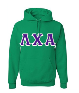 Lambda Chi Alpha Custom Twill Hooded Sweatshirt