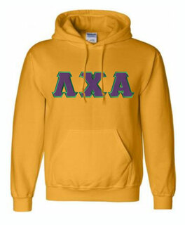 DISCOUNT Lambda Chi Alpha Lettered Hooded Sweatshirt