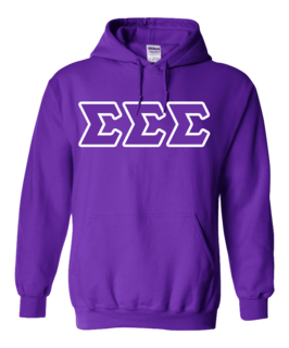 DISCOUNT - Lettered Greek Hoodie