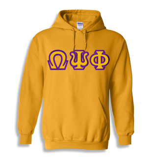 Omega Psi Phi Custom Twill Hooded Sweatshirt