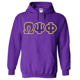 DISCOUNT Omega Psi Phi Lettered Hooded Sweatshirt