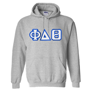 Phi Delta Theta Custom Twill Hooded Sweatshirt