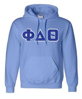DISCOUNT Phi Delta Theta Lettered Hooded Sweatshirt